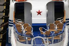 Cruise ship deck. Color photo royalty free stock photos