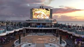 Cruise Ship Deck stock video footage