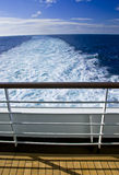 Cruise Ship Deck Railing View Stock Photography