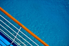 Cruise Ship Deck Railing View Royalty Free Stock Photos