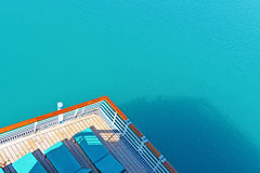 Cruise Ship Deck Railing View Stock Photo
