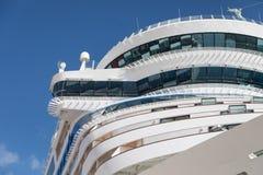 Cruise Ship Decks Abstract Against Blue Sky. Cruise Ship Decks Abstract Against Clear Blue Sky Royalty Free Stock Photos