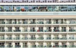 Cruise ship decks while at port royalty free stock image