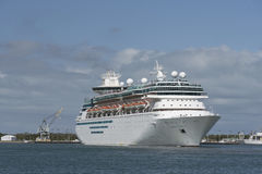 Cruise ship departing Port Canaveral Florida USA Royalty Free Stock Image