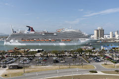 Cruise ship departing Port Canaveral Florida USA Royalty Free Stock Photo
