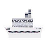 Cruise ship design flat icon Stock Photo