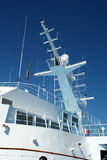Cruise Ship Detail. Cruise Ship Upper Deck and Radar Mast etc Royalty Free Stock Photography