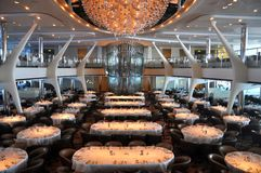 Cruise ship dining room. Opus dining room, cruise ship Celebrity Reflection, Celebrity Cruise Line Stock Photos