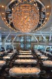 Cruise ship dining room Royalty Free Stock Photos