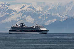 Cruise Ship in Disenchantment Bay Royalty Free Stock Images