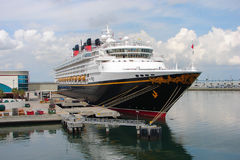 Cruise Ship Disney Wonder anchored in Port Canaveral Royalty Free Stock Photo