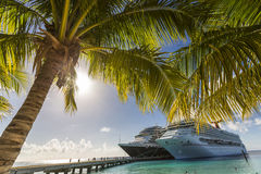 Cruise Ship Dock. In Grand Turk, Turks and Caicos Islands Stock Images
