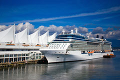Cruise Ship Vancouver Canada. Cruise ship at the Canada Place dock in Vancouver, British Columbia, Canada Stock Photo