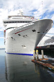 Cruise ship docked. A cruise ship is moored at the San Diego dockyard Royalty Free Stock Photo