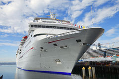 Cruise ship docked. Transportation tourism cruises travels San Diego harbor Stock Photo