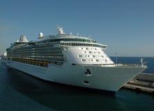 Cruise Ship Docked. Cruise ship doked in Civitavecchia (Italy Royalty Free Stock Photo