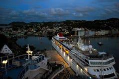 Cruise ship docked at Antigua Royalty Free Stock Photo