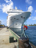 Cruise ship docked in bahamas Royalty Free Stock Images