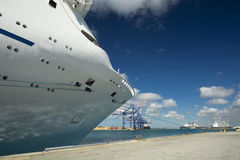 Cruise ship docked in Freeport, Bahamas Royalty Free Stock Photo