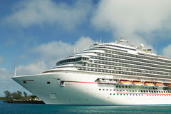 Cruise ship docked in the port of the Bahamas Royalty Free Stock Photography