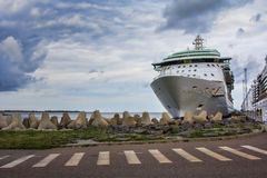 Cruise ship docked in port Royalty Free Stock Photo