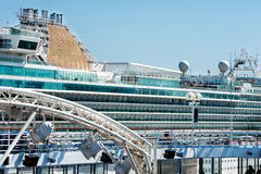 Cruise Ship docked  Rhodes  Greece Stock Image
