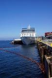 Cruise ship docked. SEATTLE - AUG 4, 2016 - Cruise ship docked on the waterfront pier Stock Image