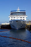 Cruise ship docked. SEATTLE - AUG 4, 2016 - Cruise ship docked on the waterfront pier Royalty Free Stock Images