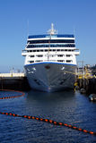 Cruise ship docked. SEATTLE - AUG 4, 2016 - Cruise ship docked on the waterfront pier Royalty Free Stock Photos