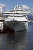 Cruise Ship Docked in Vancouver Royalty Free Stock Photos
