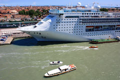 Cruise ship docked in Venice Royalty Free Stock Photo