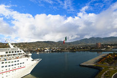 Cruise ship docking in Ensenada Mexico Stock Photography