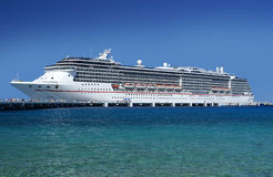 Cruise ship at the docks. Cruise ship at the docks letting people off Royalty Free Stock Photo