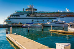 Cruise ship and docks in Key West, Florida. Stock Photography