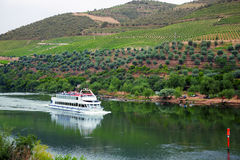Cruise ship at Douro Valley, Portugal Royalty Free Stock Photography