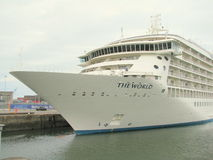Cruise   ship in Dublin port Royalty Free Stock Image