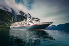 Cruise ship Balmoral in Eidfjord, Norway royalty free stock image