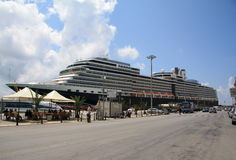 Cruise Ship Eurodam in Trapani Harbour Royalty Free Stock Photo