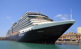 Cruise Ship Eurodam in Trapani Harbour. Holland America Cruise Ship Eurodam stopping in Trapani Harbour, Italy Stock Photography