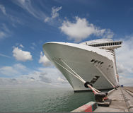 Cruise ship. Exterior and interior Royalty Free Stock Photography