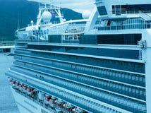 Cruise Ship Exterior. Ketchikan, AK, USA - May 24, 2016:  Profile of the cruise ship Grand Princess departing port of Ketchikan, Alaska Stock Photo