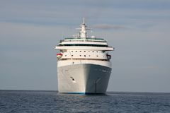 Cruise Ship and Ferry Stock Image