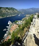 Cruise ship in the fjord Royalty Free Stock Image