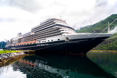 Cruise ship in Flam Norway. Koningsdam of Holland America Line in Flam Norway Stock Photos