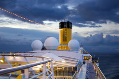 Cruise ship floats at morning Royalty Free Stock Photo