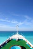 Cruise ship. Forecastle of the cruise ship Royalty Free Stock Image