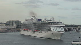 Cruise ship in Fort Lauderdale stock video footage