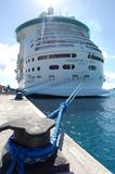 Cruise Ship. The Freedom of the Seas cruise ship, by Royal Caribbean, docked in the Bahamas Royalty Free Stock Image