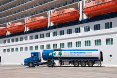 Cruise ship fuel Stock Photography