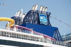 Cruise ship funnel. Norwegian Epic cruise ship funnel Royalty Free Stock Photos